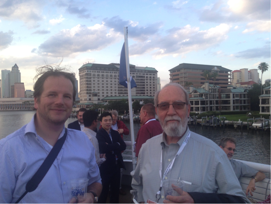 Robbert Lohmann and Sam Lott on the evening cruise